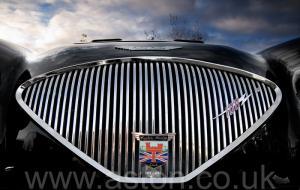 на трассе Austin Healey 100M 1955. Кликните для просмотра фото автомобиля большего размера.